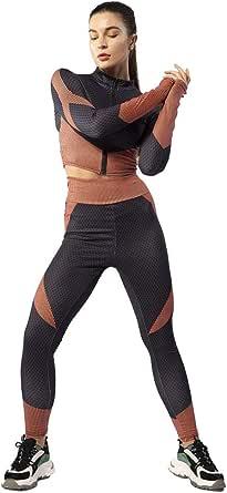 ONIEZZFOIR Plus size Color Block 2 Piece Athleisure Yoga Activewear Set Long Sleeve Zipper Crop Top High Waist Leggings Tracksuits