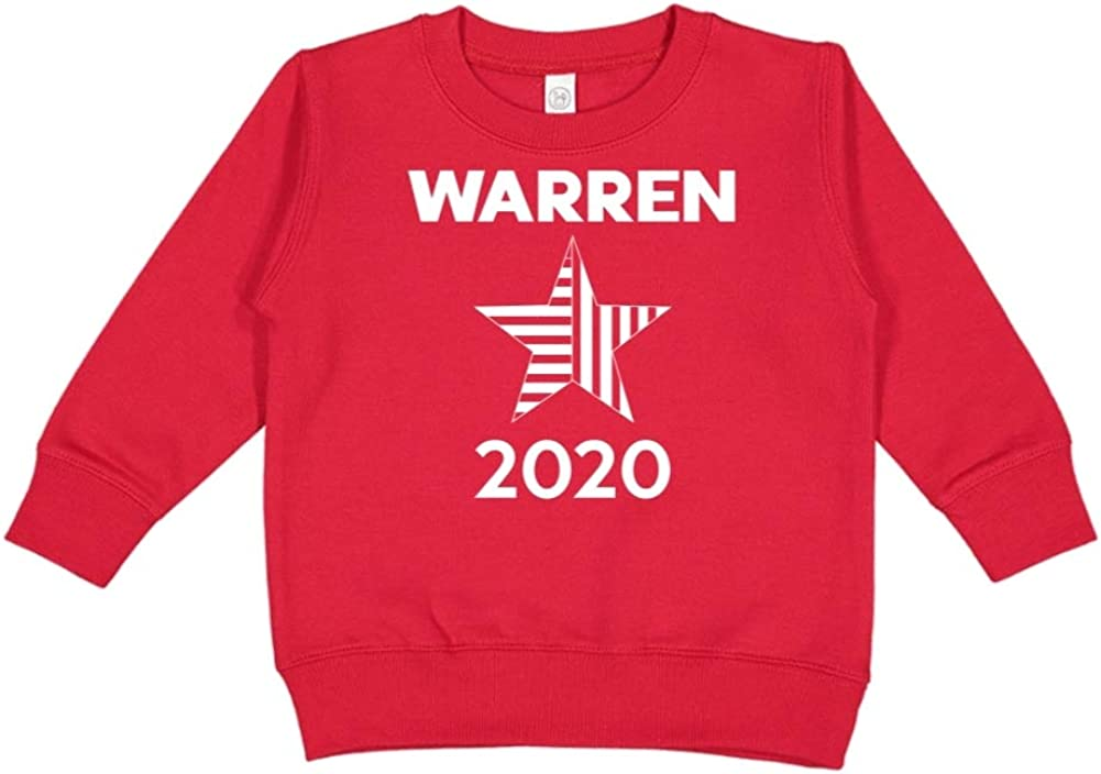 Presidential Election 2020 Toddler//Kids Sweatshirt Mashed Clothing Warren 2020 Star
