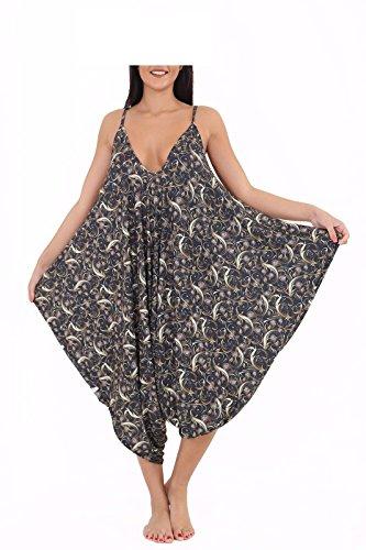Funky Fashion Shop - Pantalón - para mujer Gold Paislay