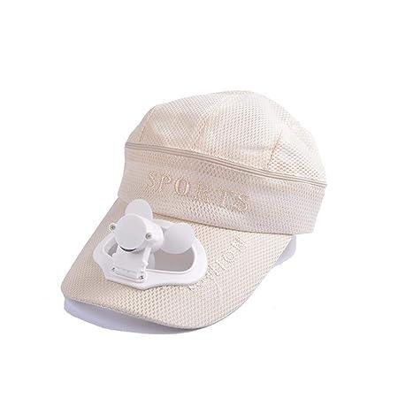 Volwco - Gorra de béisbol con Ventilador de Carga USB, Color ...
