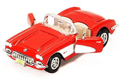 (1959 Chevy Corvette Convertible, Red - Showcasts 73216 - 1/24 Scale Diecast Model Car )