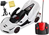Magicwand® Remote Controlled Rechargeable Ferrari with Opening Doors & Boot (Ivory White)