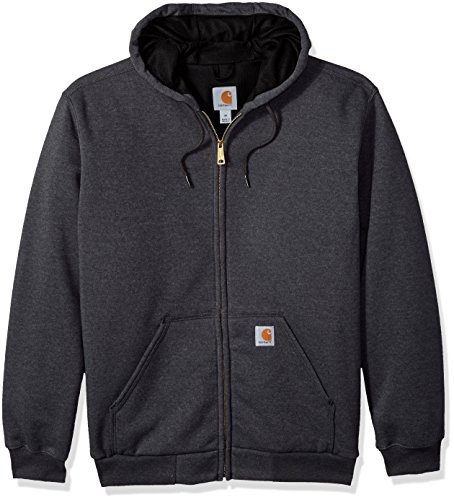 Carhartt Thermal Sweatshirt (Carhartt Men's RD Rutland Thermal Lined Hooded Zip Front Sweatshirt, Carbon Heather, Large)