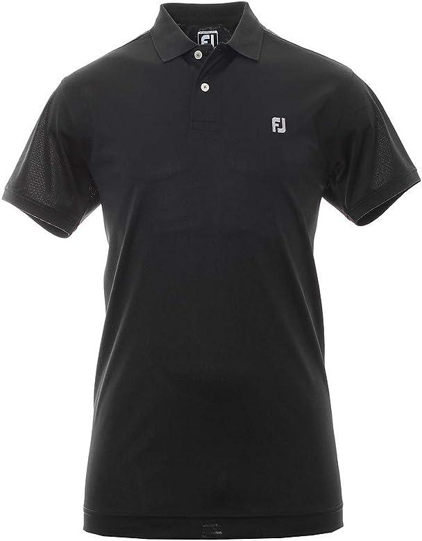 Footjoy Stretch Pique Polo de Golf, Hombre, Negro, XXL: Amazon.es ...