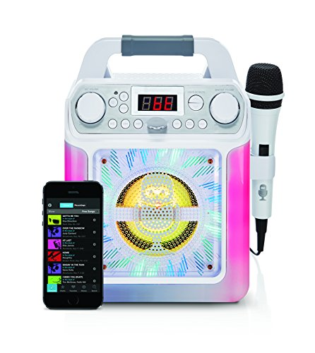 Singing Machine SML650W Bluetooth Karaoke Machine with voice changer and LED...