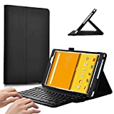 KuGi Acer Iconia One 10 B3-A30 Case with Keyboard - PU Leather Slim-Front Prop Stand Cover Case with Bluetooth Keyboard-for Acer Iconia One 10 B3-A30 Tablet(Black)