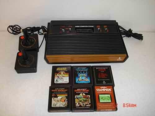 Atari 2600 Woodgrain Bundle w/6 Games