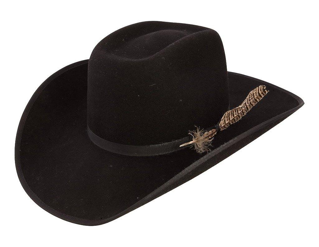 20e0bfe94e056 Amazon.com  Resistol Boys Holt Jr B Felt Cowboy Hat O S Fits 7   Smaller  Black  Clothing