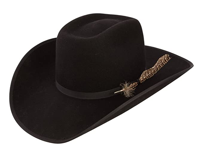 cdd20ae6aa4 Amazon.com  Resistol Boys Holt Jr B Felt Cowboy Hat O S Fits 7 ...