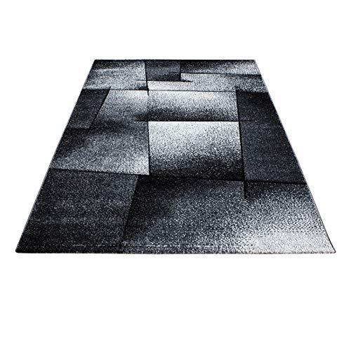 Carpet 1001 Moderner Designer Konturenschnitt 3D Wohnzimmer Teppich Hawaii 1720 Grau - 160x230 cm