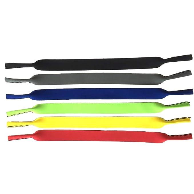 Correa de soporte para gafas de sol, 6 piezas deportivas, flotantes, retenedor de gafas, ajuste universal, cuerda de neopreno, cuerda de gafas ...