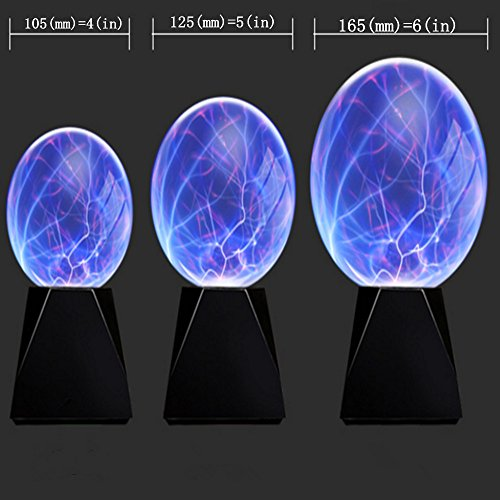 Touch & Sound Activated,Glass Plasma Ball Party magical ball electrostatic flashing ball (6 inches) by pelddy (Image #1)