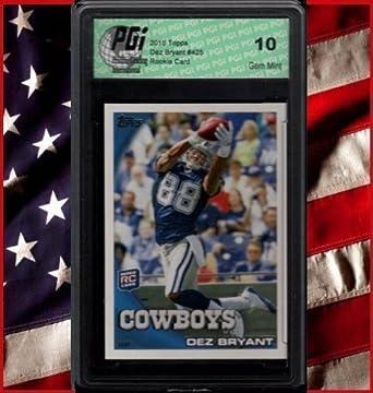 Amazon Com Dez Bryant Cowboys Wr 2010 Topps Rookie Card Pgi