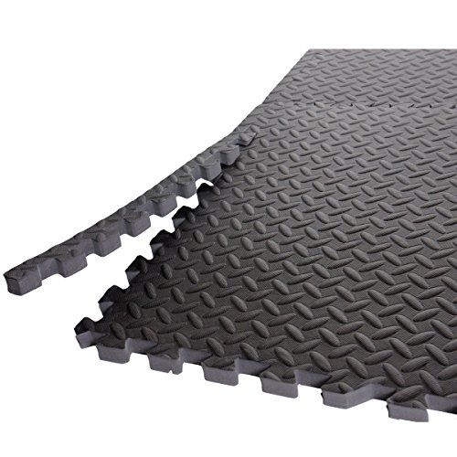 CAP Barbell Antimicrobial Treated Puzzle Mat, 24 sq ft (Antimicrobial Mat)