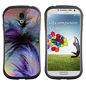 LASTONE PHONE CASE / Suave Silicona Caso Carcasa de Caucho Funda para Samsung Galaxy S4 I9500 / watercolor purple orange black green