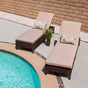 Innovex VER02OD Vera - Mueble de patio para exterior, tamaño grande, color marrón