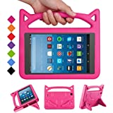 Fire HD 8 Tablet 2018 Case for Kids -SHREBORN Shock Proof Light Weight Cover Kids Case with Stand for All New Amazon Kindle Fire HD 8 Tablet(Compatible with 8th/7th Generation, 2018/2017 Release)-Pink