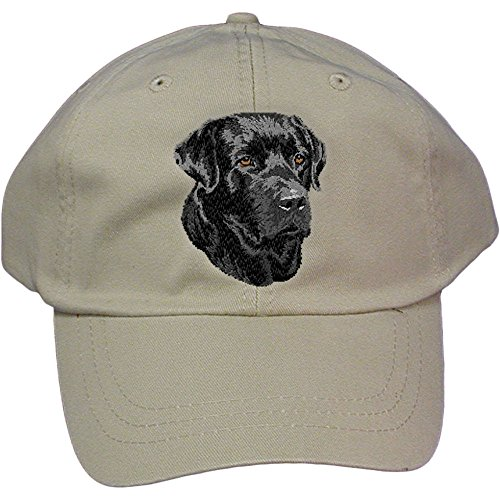 Cherrybrook Dog Breed Embroidered Adams Cotton Twill Caps - Stone - Labrador Retriever