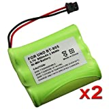 eForCity 2 Cordless Phone Rechargeable Battery Compatible with Uniden BT-905, Office Central