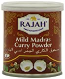 Rajah Madras Curry Powder Mild, 3.52-Ounce Unit (Pack of 6)