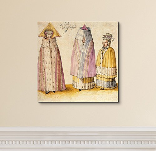 Three Mighty Ladies from Livonia by Albrecht Durer Print Famous Painting Reproduction