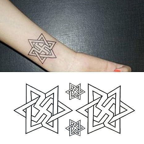 Oottati Tatuajes Temporales Estrella David Muñeca Laberinto (Juego ...