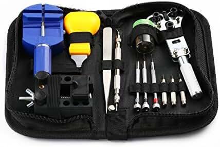 BUREI Professional 13 Pieces Watch Repair Kit Watchband Link Pin Remover Tool