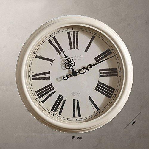 HUANGYAHUI Despertador Reloj De Pared Del Salón Dormitorio Sala Plantilla Inicio Reloj Digital, 16 Pulgadas, De Color Marrón Oscuro Ss-22910 Reloj: ...