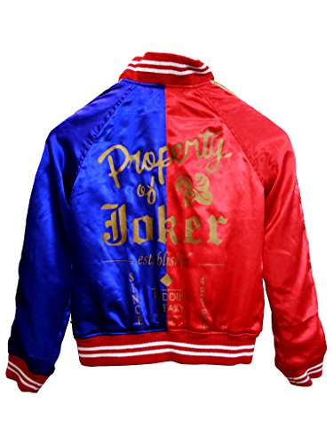 Outfitter Jackets Harley Quinn Jacket Red & Blue Suicide Squad Jacket Costume (L, Red & Blue) (Harley Quinn Children)
