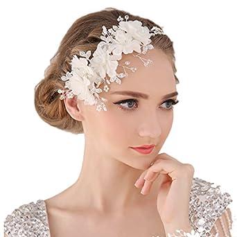 une performance supérieure Los Angeles gamme complète d'articles Miya Mega Glamour 1 serre-tête avec très belles fleurs en ...