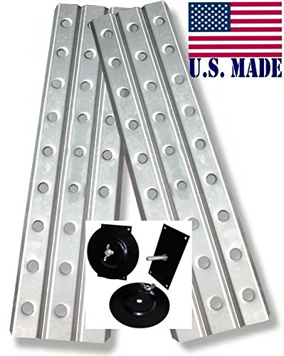 BILLET4X4 U.S. made HD SAND TRACKS - ALUMINUM 12 inch X 48 inch (Pair) with Mounting Brackets (OFF-ROAD RECOVERY)