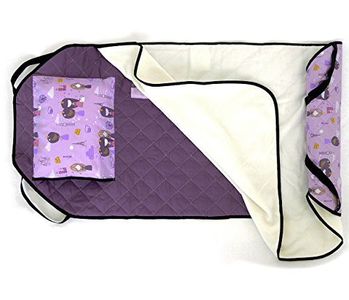 - Urban Infant Tot Cot All-in-One Modern Preschool/Daycare Nap Mat with Elastic Corner Straps - Violet