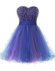 Women's Short Sequin Homecoming Dress