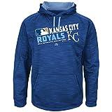 Men's Majestic Kansas City Royals On Field Team Choice Streak Hoodie