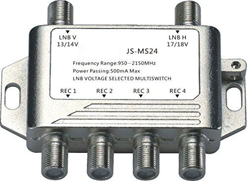 Buwico® 4Weg, Multischalter Satellite Schalter Empfänger Gericht V Antenne Splitter Video Splitter Stecker TV für Satelliten Receiver LNB