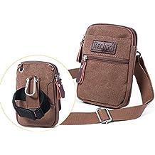 Ranboo Cellphone Purse Crossbody Bags Phone Pouch iPhone 8 Plus Belt Clip Waist Pack Bag Shoulder Pouch Wallet Purse W Strap Armband Zipper 7 Plus Note 8/5/4 S7/8/9 Plus LG V20 Sports Bag Travel Khaki