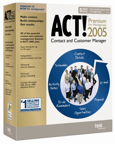 ACT! 2005 Premium for Workgroups (5 User Pack)