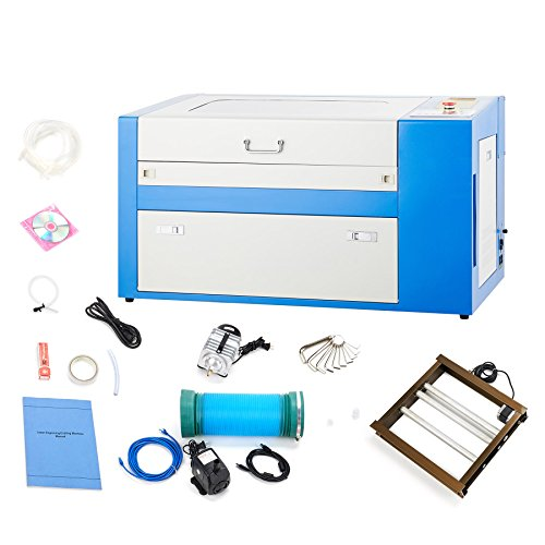 Price comparison product image Orion Motor Tech 50W 110V CO2 Laser Engraving Machine Engraver Cutter Auxiliary Rotary Device
