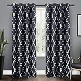 Exclusive Home Ironwork Grommet Curtain Panel Pair Peacoat Blue - EH7944-04 2-84G