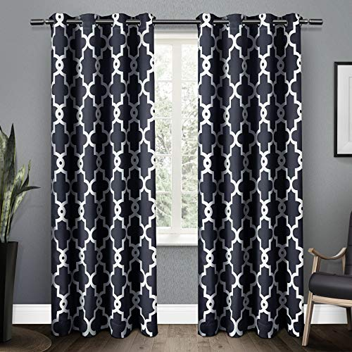Exclusive Home Ironwork Sateen Woven Blackout Grommet Top Cu