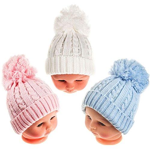 En venta Gorro de invierno con pompones para bebé 0b159a458db