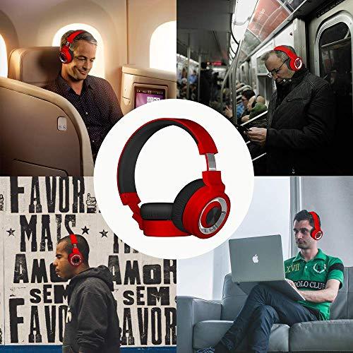 Alitoo Auriculares Bluetooth de Diadema Inalámbricos, Cascos Bluetooth Plegable Wireless Headphones Over Ear con Micrófono para TV, PC, Tablet, ...