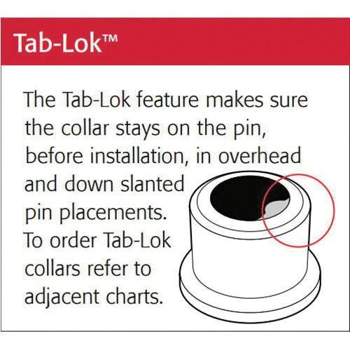 (QS-QUICK SHIP) Huck C50L 3LC-2R24GL Lockbolt Collar; 3/4 Inch (0.750 Inch), FLNG Collar W/ TAB LOK, Grade 5 Steel, Zinc