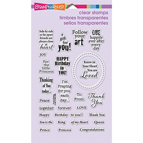 Royal Rubber Stamp - STAMPENDOUS Perfectly Clear Rubber Stamp, Royal Heart Quotes