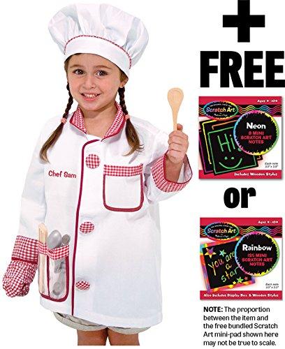 - Melissa & Doug Chef: Role Play Costume Scratch Art Mini-Pad Bundle [48385]