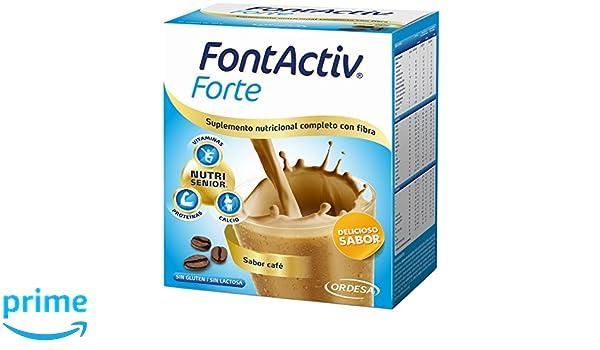 Fontactiv Forte, Suplemento Nutricional Completo con Fibra, Sabor Café - 14 Sobres x 30 g: Amazon.es: Salud y cuidado personal