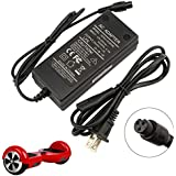 Universal Charger Adapter for Hoverboard Smart Balance Scooter 2-Wheel 42V 2A US