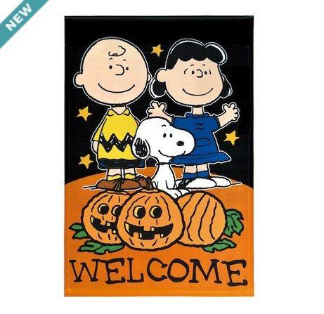Peanut Welcome Fall Halloween Indoor/Outdoor Decorative Garden Flag (Snoopy, Charlie Brown, Lucy) 12