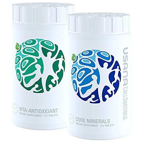 Usana CellSentials - With Usana InCelligence Technology Certified by OK Kosher-Vita-Antioxidant & Core Minerals, 112 Tablets Each -