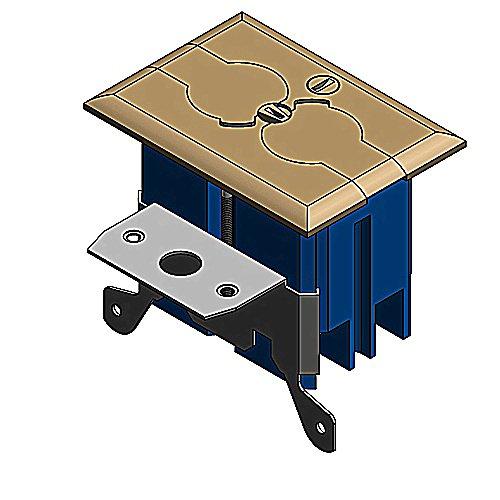Carlon B121BFBB Adjustable Floor Box, 11.125'' x 10.375'' x 8.375''